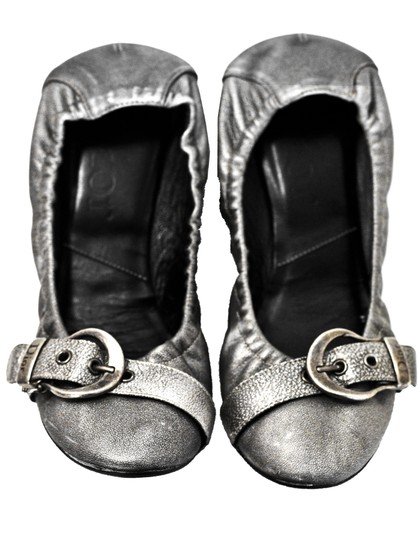 Dior Leather Stretch silver Flats