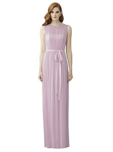 Dessy Bridesmaid Sheer Bodice Mauve Dress