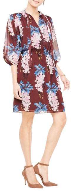 Preload https://img-static.tradesy.com/item/22900936/ann-taylor-multicolor-floral-tie-neck-shirtdress-short-casual-dress-size-4-s-0-1-650-650.jpg