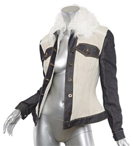 Burberry Shearling Fur Fur Suede Lamb Ivory Jacket