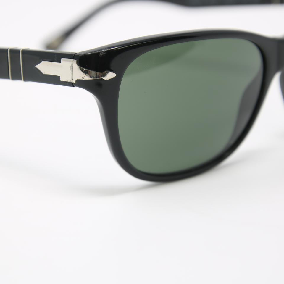 390af0a19925 Persol Black Signature Frame Crystal Polarized Green Lenses 3020-s ...
