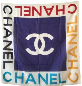 Chanel NEW CHANEL LARGE COTTON SCARF
