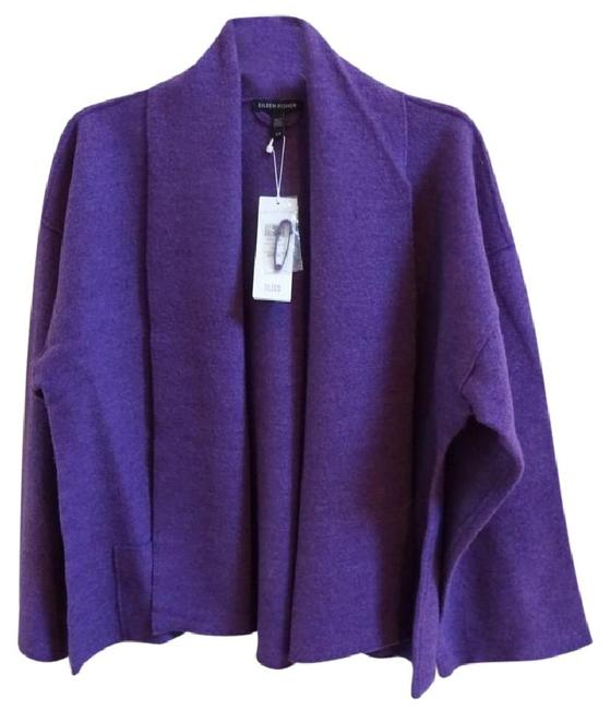 Eileen Fisher Unstructured Shawl Collar Drop Shoulder Optinal Pin Closure Front Patch Pockets Cardigan