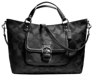 Coach Satchel in Black with Silver accents