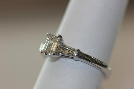 Emerald Cut Diamond 14k White Gold 1.04ctw Size 7 Gia Engagement Ring