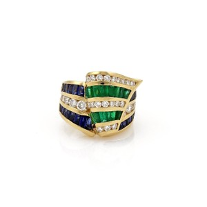 Other Estate 8.00ct Diamond Gems Krypell Style Wide Ribbon Band Ring SZ-7.5