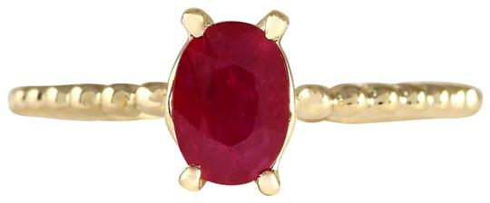 Preload https://img-static.tradesy.com/item/22901316/red-080-carat-natural-ruby-14k-yellow-gold-ring-0-1-540-540.jpg