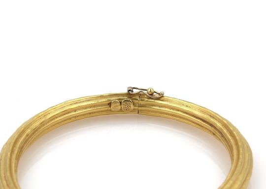 Other 22k Yellow Gold Oval Shape Grooved Style Bangle Bracelet