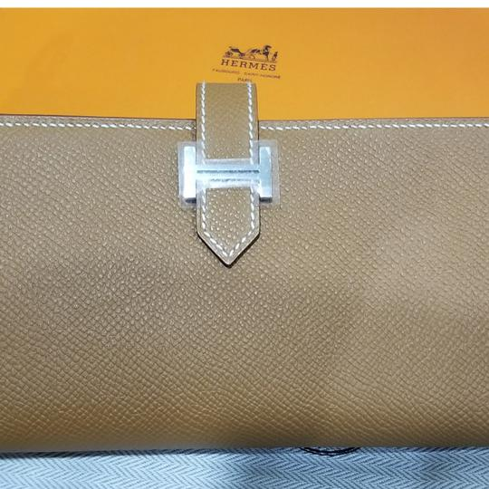 Hermès New HERMES Bearn Soufflet Bi-fold Long Wallet Epsom Leather Gold Stamp T Stamp
