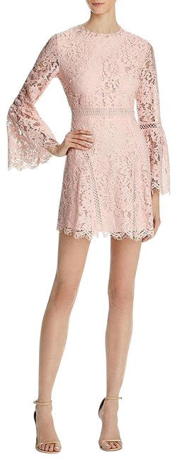 Preload https://img-static.tradesy.com/item/22901458/do-and-be-pink-dobe-womens-lace-overlay-bell-sleeves-short-cocktail-dress-size-4-s-0-1-650-650.jpg
