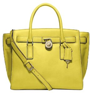 Michael Kors Tote 30f4ghxs3l Shoulder Cross Body Purse Satchel in Apple Yellow Green