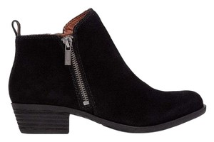 Lucky Brand Chelsea Black Oiled Suede Boots