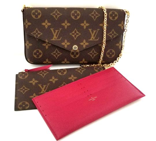 03118b665344 Louis Vuitton Felicie Pochette 2018 Monogram Brown Canvas Leather Cross  Body Bag - Tradesy