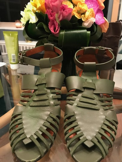 Givenchy Gladiator Braided Olive Sandals
