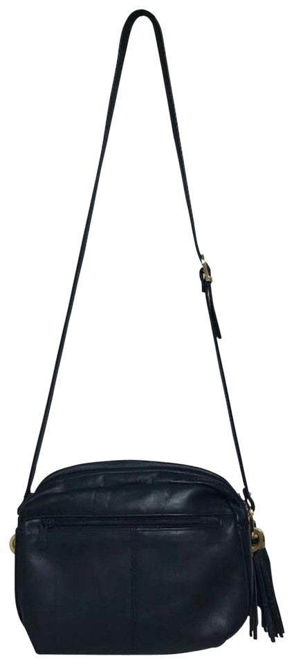 6ade2f2020d0 Tignanello Crossbody Navy Leather Shoulder Bag - Tradesy