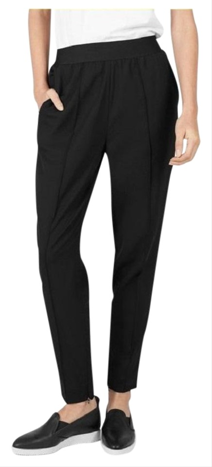 639a1753e0a Everlane Black The Italian Goweave Wool Zip Ankle Tapered Track ...