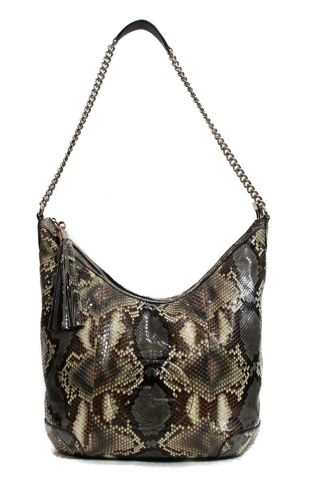 eab99432d35e Gucci Soho Python Multicolor Snakeskin Leather Shoulder Bag - Tradesy
