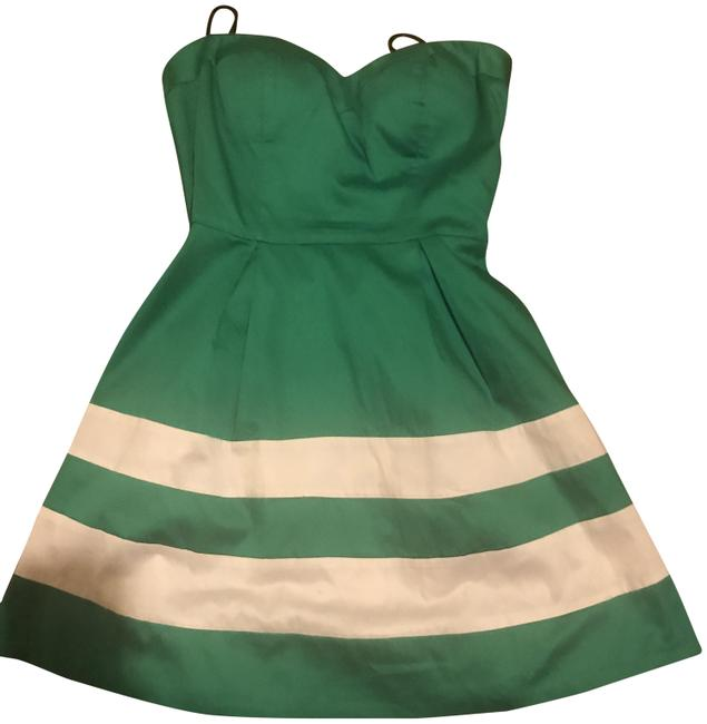 Item - Green/ Begie Women Short Night Out Dress Size 0 (XS)