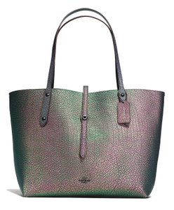 Coach Market Tote in Purple Hologram