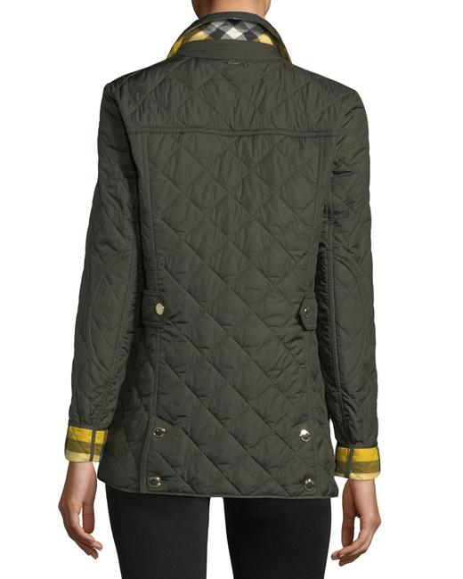 Burberry Westbridge Quilted Coat Signature Check Military Green Jacket