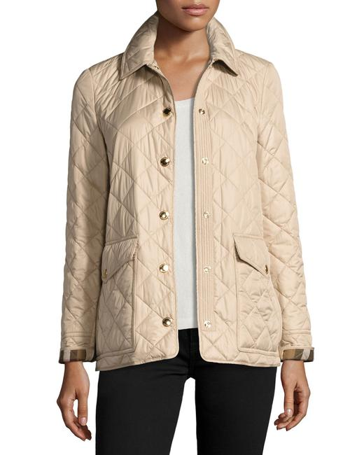 Burberry Westbridge Relaxed Fit Signature Check Quilted Coat Beige Jacket