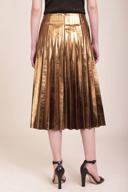 Anthropologie Zara Ysl Skirt Gold