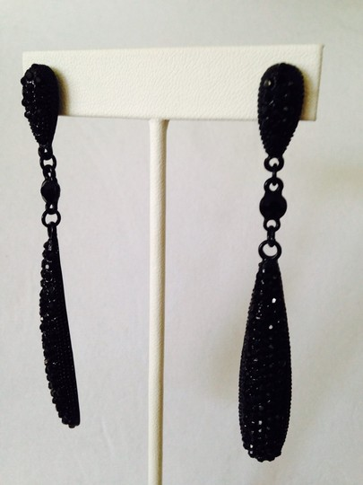 Other NWOT Faceted Black Cubic Zirconia Long Dangle Earrings