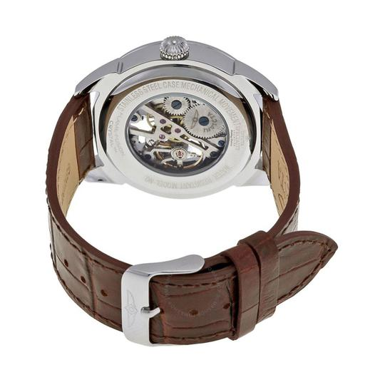 Invicta INVICTA Men's Specialty Silver Skeleton Dial Brown Leather Watch 17187