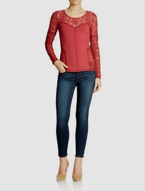 Free People Sweet Thang Burnt Red Sweater