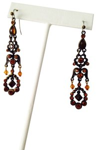 Other NWOT Faceted Burnt Orange Swarovski Crystal & Briolettes Earrings