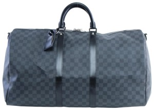 Louis Vuitton Damier Keepall Damier Duffle Keepall Damier Bandouliere Duffle Graphite Travel Bag