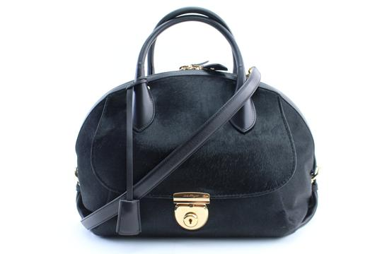 Preload https://img-static.tradesy.com/item/22902362/salvatore-ferragamo-ponyhair-fiamma-2way-15mr0212-black-leather-satchel-0-0-540-540.jpg