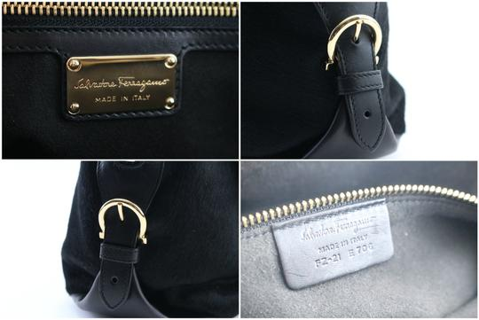 Salvatore Ferragamo Fiama Chanel Gucci Hermes Louis Vuitton Satchel in Black