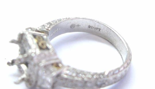 Michael Beaudry Michael Beaudry Platinum Diamond Mounting Ring .90Ct
