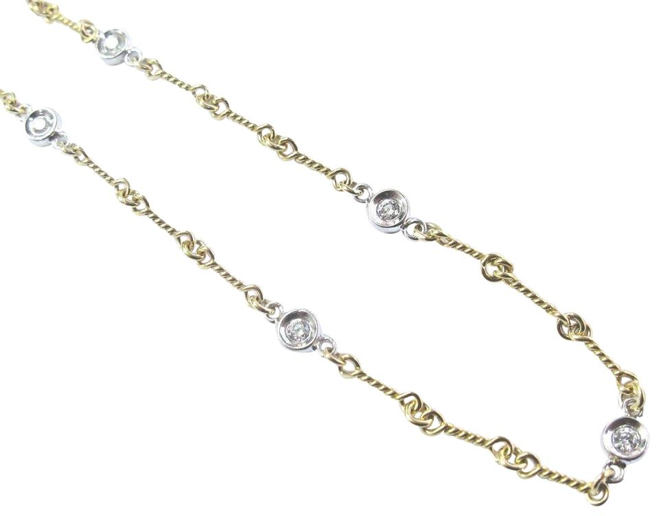 cb719c09774 Roberto Coin ROBERTO COIN DOG BONE NECKLACE YELLOW GOLD 18KT. WITH DIAMOND  STATIONS Image 0 ...