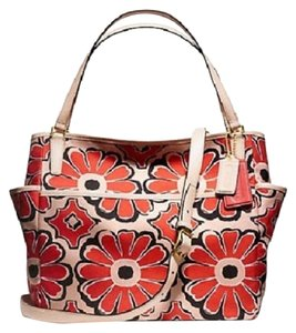 Coach 25643 Convertible Baby Unisex Diaper Pad Tote in Desert Floral Pink