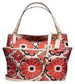 Coach 25643 Convertible Baby Unisex Diaper Pad Tote in Desert Floral Orange