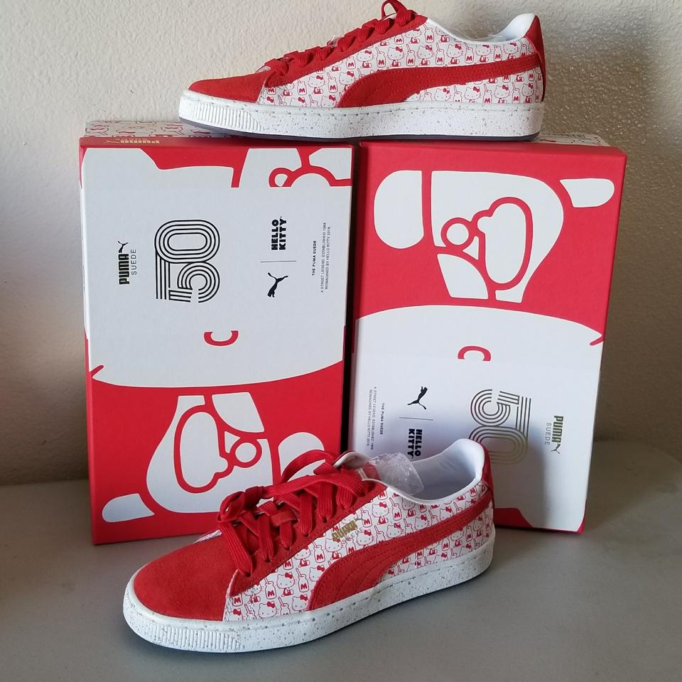 official photos 90c60 d52f3 Puma White/Red X Hello Kitty Suede Sneakers Size US 8.5 Regular (M, B)