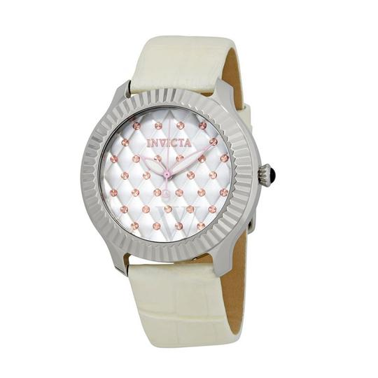 Invicta INVICTA Women's Angel Lady Silver Quilted Dial Watch 25744
