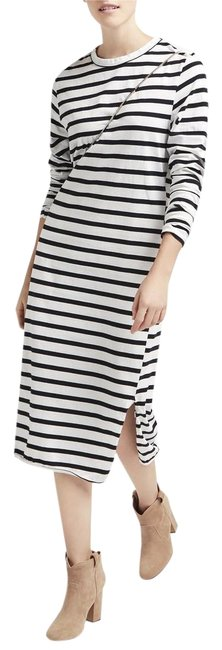Preload https://img-static.tradesy.com/item/22902681/white-striped-crewneck-split-long-sleeve-mid-length-short-casual-dress-size-4-s-0-1-650-650.jpg