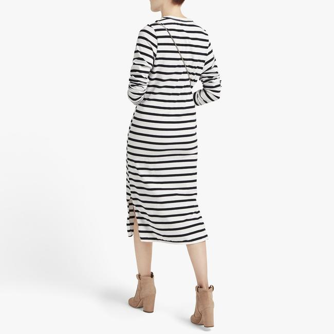 Bassike short dress White Striped Long Sleeve Mid Length Stripes on Tradesy