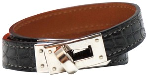 Hermès Kelly Double Tour Alligator Leather Bracelet