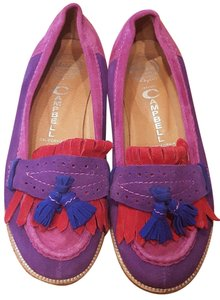 Jeffrey Campbell Loafers Suede Color-blocking Bright Classic Multicolored Flats