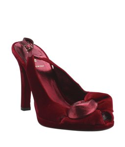 Fendi Velvet Red Pumps