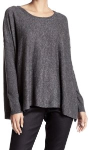 Eileen Fisher Dolman Sleeves Super Lightweight Soft Slightly Curved Hem Draped Boxy Fit Sweater