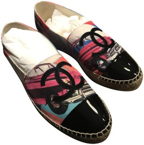 Chanel Espadrille Multicolor/Black Flats