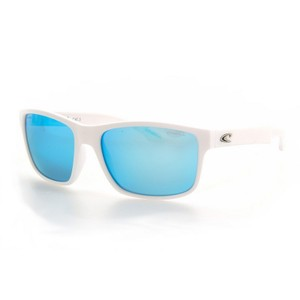 O'Neill ONS-ANSO-100P Men's White Frame Blue Lens 57mm Polarized Sunglasses