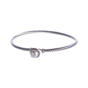 David Yurman Chatelaine Bracelet with Pearl 3mm Size Medium $325 NWOT