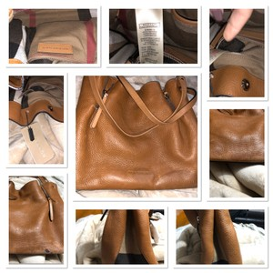 Burberry Tote in Saddle Brown