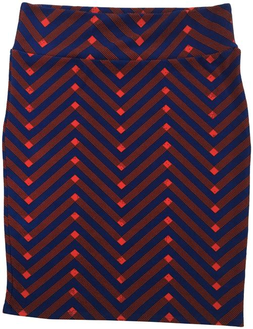 Item - Blue and Red Cassie Pencil Skirt Size 16 (XL, Plus 0x)